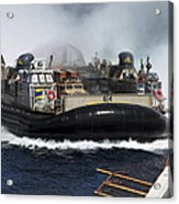 A Landing Craft Air Cushion Transits Acrylic Print
