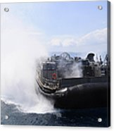 A Landing Craft Air Cushion Travels Acrylic Print
