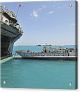 A Landing Craft Utility Approaches Acrylic Print