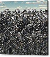A Large Gathering Of Robots Acrylic Print