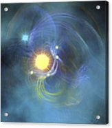 A Large Sun Is Veiled By Surrounding Acrylic Print