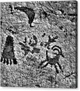 A Library Of Petroglyphs - Atlatl Rock Acrylic Print