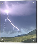 A Lightning Bolt From A Thunderstorm Acrylic Print