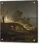 A Lime Kiln At Coalbrookdale Acrylic Print by Joseph Mallord William Turner