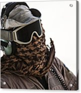 A Loadmaster Protects His Head Acrylic Print