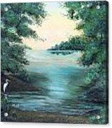 A Lone Egret Acrylic Print