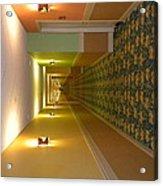 A Long Hallway Flipped Sideways Acrylic Print