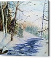 A Lovely Winter's Day Acrylic Print