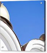 A Low Angle Shot Of A White Church Acrylic Print