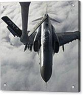 A Luftwaffe F-4f Phantom II Approaches Acrylic Print