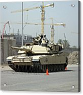 A M1 Abram Sits Out Front Of The New Acrylic Print