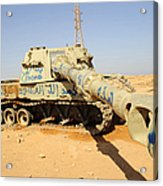 A M109 Howitzer Destroyed By Nato Acrylic Print