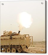 A M120 Mortar System Is Fired Acrylic Print
