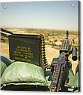 A M240b Medium Machine Gun Acrylic Print