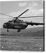 A Macedonian Mi-17 Helicopter Landing Acrylic Print