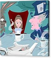 'a Mad Tea Party' Acrylic Print by Bryan  Rhoads