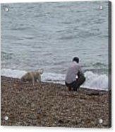 A Man And His Dog Acrylic Print