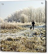 A Man And His Dog Acrylic Print by John Chatterley