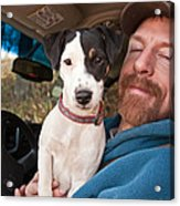A Man And His Puppy In Wv Acrylic Print
