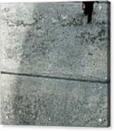A Man Walked Visible From Above Acrylic Print