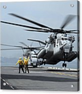 A Marine Mh-53 Helicopter Takes Acrylic Print
