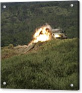 A Marine Scores A Direct Hit While Acrylic Print