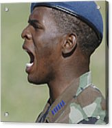 A Member Of The U.s. Air Force Academy Acrylic Print by Stocktrek Images