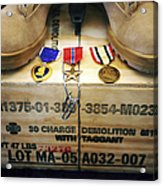 A Memorial Dedicated To An Airman Who Acrylic Print by Stocktrek Images