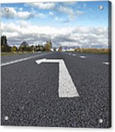 A Metalled Road With A Large Acrylic Print