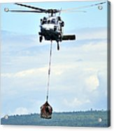 A Mh-60 Knighthawk Carries Supplies Acrylic Print