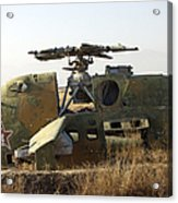 A Mi-35 Attack Helicopter At Kunduz Air Acrylic Print