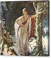 A Midsummer Night's Dream Hermia And The Fairies Acrylic Print