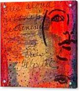 A Mind Cries Acrylic Print
