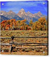 A Moment In Wyoming In Autumn Acrylic Print
