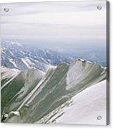 A Mountain Climber Hikes Acrylic Print