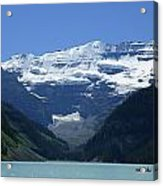 A Mountain Range With A Lake In The Acrylic Print
