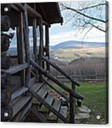 A Mountain View Acrylic Print