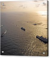 A Multi-national Naval Force Navigates Acrylic Print