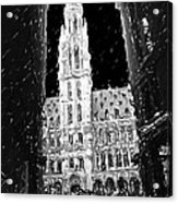 A Night On The Grand Place Acrylic Print