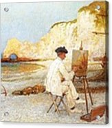 A Painter By The Sea Side Acrylic Print