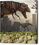 A Pair Of Tyrannosaurus Rex Explore Acrylic Print
