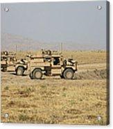A Pair Of U.s. Army Cougar Mrap Acrylic Print