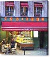 A Paris Bistro Acrylic Print