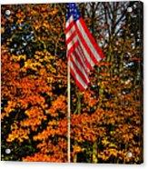 A Patriotic Autumn Acrylic Print