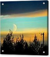 A Peek At The Moon Acrylic Print