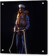 A Petty Officer Secures Rope Tied Acrylic Print