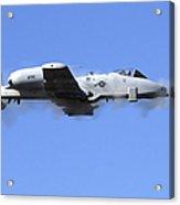 A Pilot In An A-10 Thunderbolt II Fires Acrylic Print