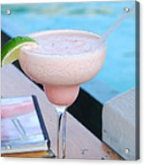 A Pink Sand Margarita Acrylic Print by Hibberd, Shannon