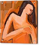 A Portrait Of A Woman Acrylic Print