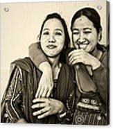 A Portrait Of Good Friends Acrylic Print